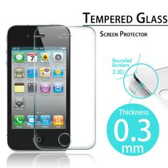 $4.34 11/2015 REAL-Tempered-Glass-Screen-Protector-iPhone-6-Plus-4S-5C-5S-Apple-Watch-38-42mm