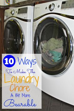 10 Ways To Make Laundry More Bearable - Love these tips!