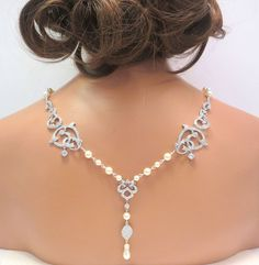 Bridal backdrop necklace Wedding back drop by treasures570 on Etsy, $145.00 so want one for my wedding