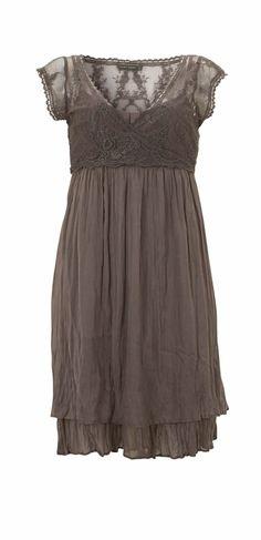 pretty dark grey empire waist dress