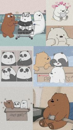 Ed Wallpaper, Wallpaper Fofos, Cute Panda Wallpaper, Cartoon Wallpaper Iphone, Cute Patterns Wallpaper, Cute Disney Wallpaper, Kawaii Wallpaper, Cute Wallpaper Backgrounds, We Bare Bears Wallpapers