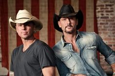 Country Music Hunks Kenney Chesney and Tim McGraw