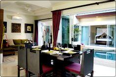 Красивая и элегантная вилла на Пхукете, с видом на море, изящно оформленная в современном стиле с тайскими национальными мотивами, недалеко от пляжа Karon. Расположена на охраняемой территории, с просторной открытой гостиной выходящей в сад и бассейн, полноценной кухней, для спокойного и комфортного отдыха семьи или компании из 4 человек. 2 спальни, 3 ванных комнаты, личный бассейн, WiFi, интернет, магазины - 0,5 км. Стоимость в это время сезона - 390 USD в сутки. (383) 233-33-73, 233-33-37