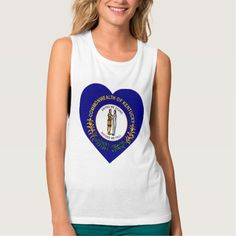 Kentucky Flag Heart Tee Shirts