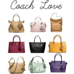 Coach handbag collection by howhauteisthat, via Polyvore