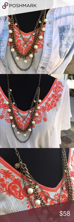 J. Crew Multi Strand Pearl Necklace. This necklace is perfect to dress up or down! Worn once. ⚡️FREE saleitem with the purchase of a regular priced item of equal or greater value! Or 25% off of bundles!!!! So many deals  offers also welcome! J. Crew Jewelry Necklaces
