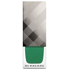 Burberry Burberry Beauty Nail Polish/0.27 Oz. ($23) ❤ liked on Polyvore featuring beauty products, nail care, nail polish, nail, beauty, makeup, sage green, burberry, burberry nail polish and shiny nail polish