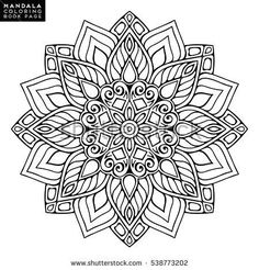 Stock Photo and Image Portfolio by Lovely Mandala Mandala Coloring Pages, Coloring Book Pages, Mandala Painting, Mandala Art, Indian Mandala, Oriental Pattern, Flower Mandala, Mandala Tattoo, Art Pages