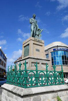 Lord Nelson Statue, Bridgetown, #Barbados predates statue in Trafalgar Square, London by 27 years