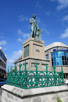 Lord Nelson Statue, Bridgetown, Barbados predates statue in Trafalgar Square, London by 27 years
