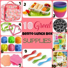10 Great Bento Lunch Box Supplies