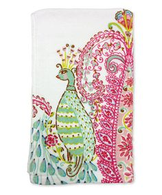 Look at this Peacock Printed and Towel on #zulily today!