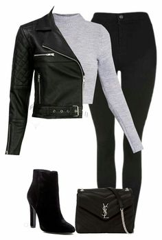 Girls Fashion Clothes, Winter Fashion Outfits, Edgy Outfits, Cute Casual Outfits, Look Fashion, Winter Outfits, Casual College Outfits, Fashion Goth, Jugend Mode Outfits