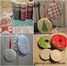 recycled ribbon spools from Expect Moore.