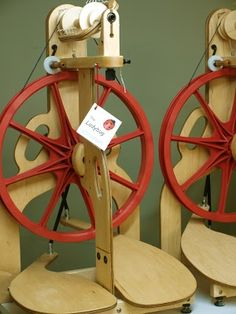 New! Schacht Ladybug Spinning Wheel. Article about the making of the Ladybug on Fancy Tiger at http://fancytiger.blogspot.com/2010/02/new-schacht-ladybug-spinning-wheels.html