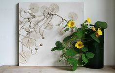 UK artist Rachel Dein's method of plaster casting captures everyday objects in a unique and delicate way. She makes impressions in wet clay, and then pours plaster directly over them. The clay captures. Daisy Painting, Watercolor Paintings, Lavender Paint, Art Et Nature, Plaster Cast, Colossal Art, Concrete Art, Book Sculpture, Sculptures