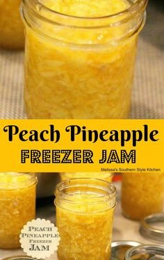 Peach Freezer Jam, Freezer Jam Recipes, Jelly Recipes, Canning Recipes, Fruit Recipes, Pate Recipes, Canning Tips, Chutney Recipes, Marmalade