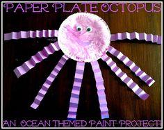 Paper Plate Ocean Creatures