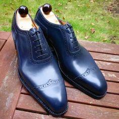 Men,s Handmade Blue Leather Shoes, Men Lace Up Shoes, Men Shoes - Dress/Formal