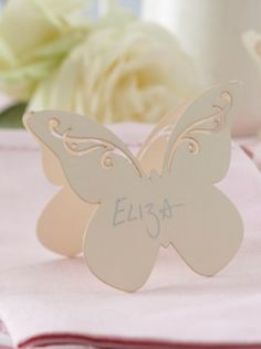 Ivory flutter-by place cards - Wedding Shop South Africa Wedding Name Tags, Wedding Place Cards, South Africa, Ivory, Place Card Holders, Easter, Places, Shopping, Easter Activities