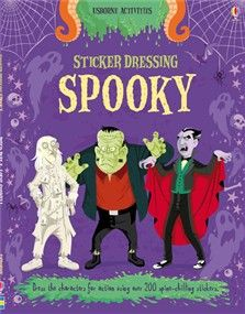 """Sticker Dressing Spooky"" - dress all sorts of spooky characters, from the wicked Count Dracula himself to an army of killer zombies.  www.usborne.com/halloween"