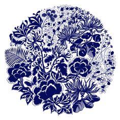China Blue by Johanna Basford Secret Garden Coloring Book, Joanna Basford Secret Garden, Johanna Basford Coloring Book, Blue China, Coloring Book Pages, Adult Coloring, Mandala, Drawings, Artwork