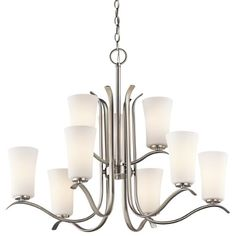 Kichler 43075NI Nine Light Chandelier -- Visit the image link more details.-It is an affiliate link to Amazon. #DiningRoomLighting