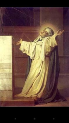 Saint Catherine of Siena receiving the invisible stigmata. Beautiful picture!