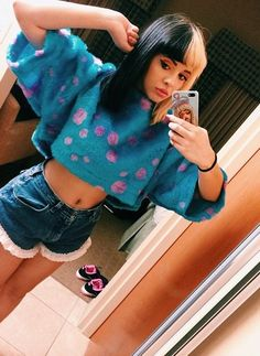 Find images and videos about singer and melanie martinez on We Heart It - the app to get lost in what you love. Mel Martinez, Crybaby Melanie Martinez, Melanie Martinez Makeup, Melanie Martinez Outfits, Melanie Martinez Style, Cry Baby, Mrs Potato Head Melanie, Divas, Favim