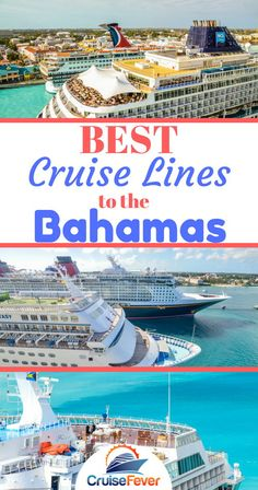 Most of the mainstream cruise lines (Carnival Cruise Line Royal Caribbean Disney Norwegian etc) have cruise ships sailing twice a week normally Monday and Friday to the Bahamas. See which are the best cruise lines for your cruise to the Bahamas. Bahamas Cruise, Cruise Port, Cruise Tips, Cruise Travel, Caribbean Cruise, Royal Caribbean, Cruise Vacation, Disney Travel, Vacations