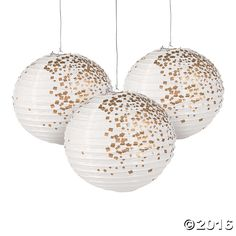 Include these White & Gold Patterned Paper Lanterns in your collection of party decorations to keep spirits high! These white and gold lanterns are perfect ...