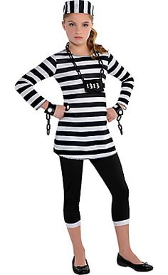 Girls Trouble Maker Prisoner Costume