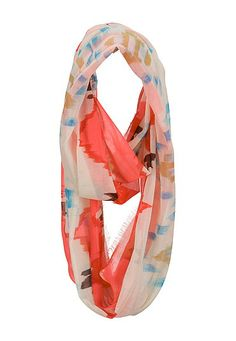 Multi color tribal print infinity scarf (original price, $14) available at #Maurices