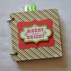 Merry and Bright mini album  Chipboard Album  by SoScrappyHappy, $14.50