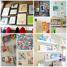 IHeart Organizing:  Playroom Art Display #kids #kids_stuff