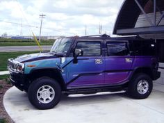 Words cannot express how much I want a purple Hummer.