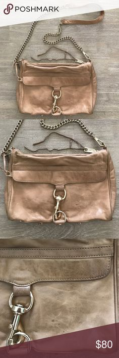 Rebecca Minkoff MAC crossbody bag purse The ever popular MAC crossbody purse from Rebecca Minkoff. tan color. Shows signs of wear, but still has plenty of life left and ready for a new owner! Sorry no trades! Rebecca Minkoff Bags Crossbody Bags