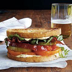 Heirloom Tomato, Arugula, and Bacon Sandwiches | MyRecipes.com