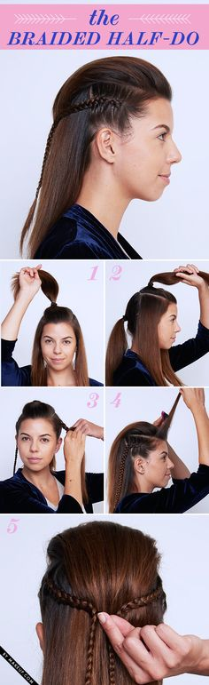 Tuesday Tutorial: Braided New Year's Eve Updos
