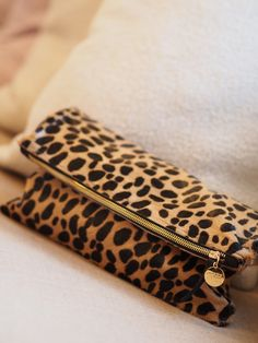Clare Vivier leopard print foldover clutch #perfection | I WANT SO BAD