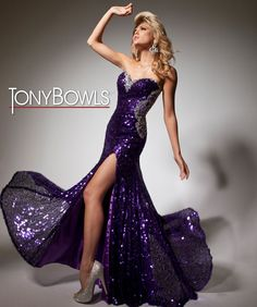 Tony Bowls Paris gorgeous detailed back in vivid purple #formalapproach