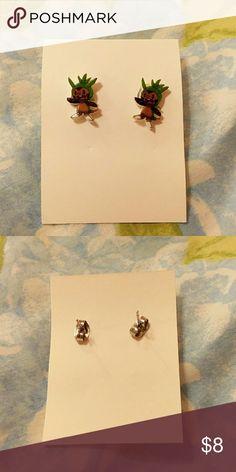 Pokemon Chespin Stud Earrings Handmade Pokemon Chespin Stud Earrings Pokemon Jewelry Earrings