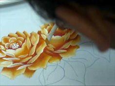 Pintura de Rosas - Escudeiro. - YouTube