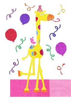 Party Giraffe. Tracey English http://tracey-english.blogspot.co.uk