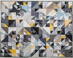 """Braque Quilt Pattern-BRAQUE QUILT PATTERN Finished Quilt: 60"""" x 76"""" • Modern quilt inspired by Cubist painter Georges Braque Melinda Lin"""