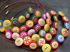 Wooden Button Necklace - The Supermums Craft Fair