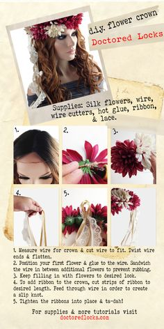 How to make your own FLOWER CROWN! #DIY tutorial to help you get your spring and summer to the right start #accessories #doctoredlocks