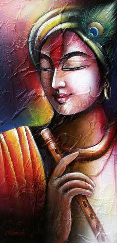 "Artist: Namish Arora Title: Trishna Size: 24"" X 12"" (inches) Medium: Acrylic on canvas Year of Execution: 2016 e-mail: namish777@gmail.com Lord Shiva Painting, Ganesha Painting, Buddha Painting, Madhubani Painting, Buddha Art, Krishna Art, Hare Krishna, Krishna Images, Radha Krishna Pictures"