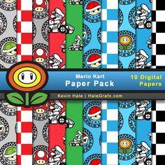 GRÁTIS Mario Kart Digital Pacote Papel