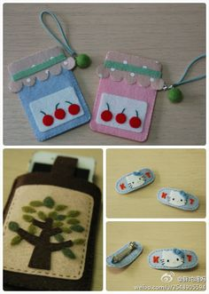 felt crafts- love the jars- great idea for labeling jams meant as gifts